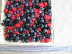 A Very Berry Tart | Raspberry, Blueberry & Blackberry on Shortbread Crust  http://jennysteffens.blogspot.com/2011/06/very-berry-tart-blueberry-blackberry.html