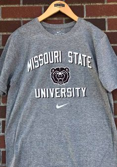 Nike Missouri State Bears Grey Arch with Bear Short Sleeve T Shirt - 19862242 Great Books, St Louis, Missouri, Arch, Bear, Nike, T Shirt, Supreme T Shirt, Longbow