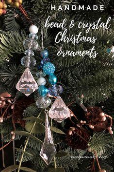 Handmade Bead and Crystal Christmas Ornaments - What Meegan Makes