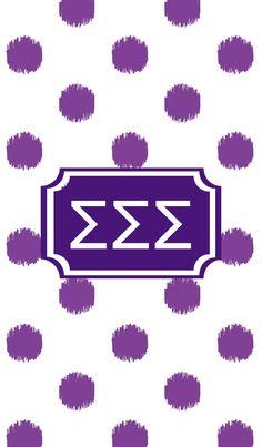 Sigma Sigma Sigma iPhone monogram background