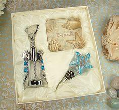 28 Murano Art Deco Starfish Stopper wedding favors bridal shower favors beach