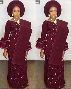 All Shades Of Beautiful Nigerian Traditional Outfits You Should See Nigerian Wedding Dresses Traditional, Traditional Wedding Attire, African Traditional Dresses, Traditional Outfits, Traditional Weddings, African Lace Styles, African Lace Dresses, Latest African Fashion Dresses, African Print Fashion