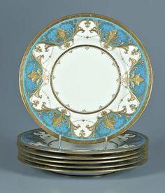 842: Six Mintons service plates: : Lot 842