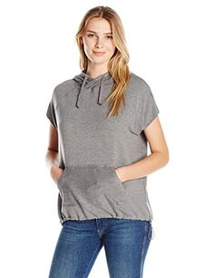 987d56603bce Betsey Johnson Womens Stretch Terry Muscle Hoodie Medium Heather Grey S --  You can get