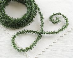 Skinny Pine Rope  25 Feet Wired Christmas Trim by smilemercantile