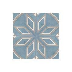 Carreau De Ciment Colore Motif 4 Carreaux Gris Noir Blanc Bleu Et