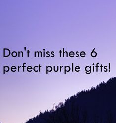 Purses, chocolates, vases and more - perfect gifts for the purple lover in your life!
