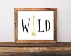 Instant arrow art print Wild Printable tribal by HeartOfLifeDesign