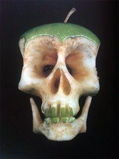 Apple Skull, food art