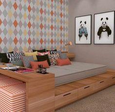 Inspiração ♡ #interiores #design #interiordesign #decor #decoração #decorlovers #archilovers #inspiration #ideias #dormitórioteen #quartoteen #bedroom #teenroom #quartodemenina