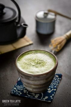 Green Tea Latte 抹茶ラテ...I am drinking it right now and I love it! So #delicious @JustOneCookbook (Nami)