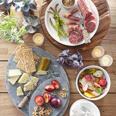 Not into cooking? Not a problem. Putting together a fabulous spread is as simple as knowing what to buy. We like to stick to three fantastic plates -- a meat tray, a cheese plate, and marinated fresh veggies. Invite List: 4-6 Guest Type:Everyone/