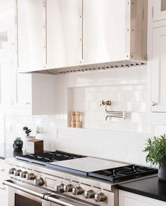 *Backsplash and pot filler framed and indented area