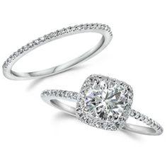GIA Certified 1.25CT Cushion Halo Diamond Engagement Ring 14K White Gold - $2299.99