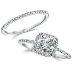 GIA Certified 1.25CT Cushion Halo Diamond Engagement Ring 14K White Gold - $2299.99