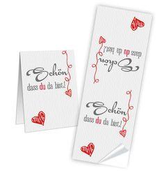 25 kleine wei/ße Geschenkboxen Geschenkschachteln Holz Optik 14,5 x 10,5 cm ca 25 Banderolen 5 x 15 cm DANKE rot graue HERZEN Verpackung Geschenk Hochzeits-Deko Geburtstag 3 cm