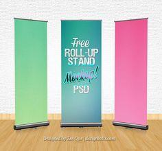Kostenloses Mockup-Set mit Roll-up Bannern