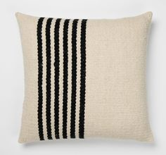 Raya Handwoven Pillow - Black