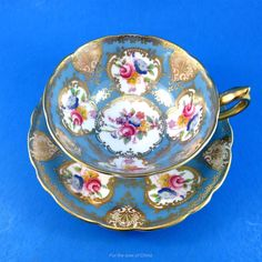 China Cups And Saucers, Teapots And Cups, Vintage Cups, Vintage Tea, Cup And Saucer Set, Tea Cup Saucer, My Cup Of Tea, Antique China, Pansies