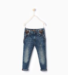 Image 1 of Jeans with braces. from Zara
