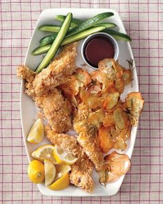 Baked Fish and Chips from Martha Stewart Living (Dec 2013)