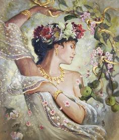 Pomona - Roman Goddess of abundance; protected the fruit trees, gardens and orchards