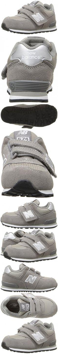 New Balance Boys' KG574 Lifestyle Sneaker, Grey, 3 M US Infant