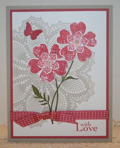 Primrose Petals Greeting Card Kit x4 ~ Stampin Up Products ~ Mother's Day Love