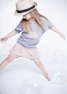 Kids On The Moon - Pinkstars Shorts Powder Pink