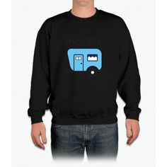 Happy Camper Blue Crewneck Sweatshirt