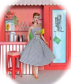 Vintage Barbie - we had a brunette Barbie, a blond Barbie and a redheaded Barbie!  You always knew which one was yours!