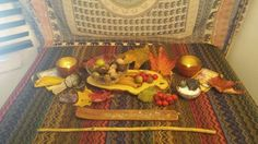 I know I have just submitted my altar, but I wanted to share this one as well; I have brought the energies of fall into my home. :) Blessed Be )o(