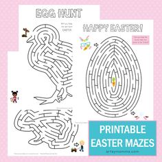 Easter Maze Printables for Kids to Do