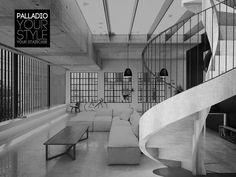 Escalier hélicoïdal / marche en béton / structure en béton / avec contremarche Palladio spiral concrete PALLADIO SCALE