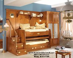 Jual Tempat Tidur Tingkat Mewah Klasik Model Unik, Model Ranjang Tingkat Anak Mewah Jati Klasik, Harga Bunk Bed Mewah Anak Klasik