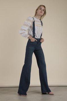 Frame Denim - Le Capri Suspender Jeans