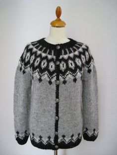 """Handmade Icelandic wool sweater or """"Lopapeysa"""" as we call it, knitted in Iceland. by KnittingDidi on Etsy Icelandic Sweaters, Wool Sweaters, Sweater Making, Sweater Design, Custom Made, Knit Crochet, Knitting, Trending Outfits, 10 Days"""