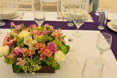 Centro de mesa #Bodas Quinta Pavo Real del Rincón www.pavorealdelrincon.com.mx
