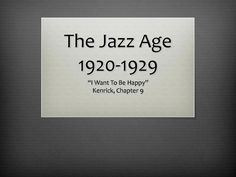 The Jazz Age 1920- Jazz Age, Favorite Things, Cards Against Humanity