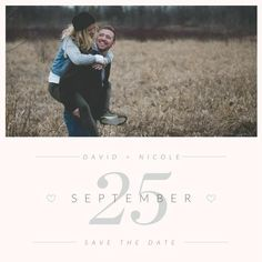 Big Day Photo Save the Date Announcement Printable