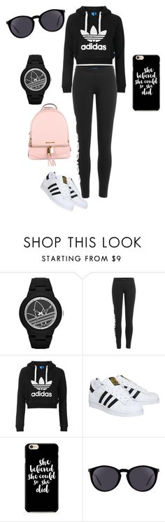 """Untitled #1157"" by styledbytjohnson on Polyvore featuring adidas, adidas Originals, Topshop, Yves Saint Laurent and MICHAEL Michael Kors"