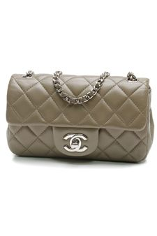 Chanel Olive Green Quilted Lambskin Extra Mini Flap Bag