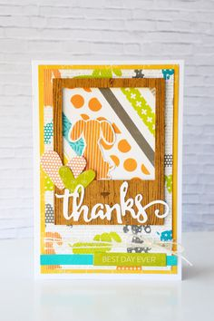 Thanks Card by Leanne Allinson featuring Jillibean Soup Hardy Hodgepodge