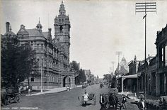 Church Street Taken circa Kwazulu Natal, My Family History, Victorian Architecture, African History, Back In The Day, Big Ben, New Zealand, South Africa, Street View