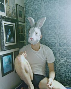 Alice never came back and the rabbit moved on . Animal Masks, Animal Heads, Rocky Horror, Creepy, Scary, Indie, Were All Mad Here, Monochrom, Comme Des Garcons