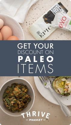 Thrive Market sells your favorite paleo brands for up to 50% off everyday. Join today and get one month free!