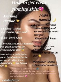 A fun skin care pin routine for a soft face skin. Kindly study this natural skin care pin number 1695761161 here. Beauty Tips For Glowing Skin, Clear Skin Tips, Beauty Skin, Face Beauty, How To Clear Skin, Skin Care Acne, Face Skin Care, Skin Care Tips, Skin Care Regimen