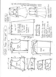 T Shirt Sewing Pattern, Skirt Patterns Sewing, Pattern Drafting, Doll Patterns, Clothing Patterns, Sewing Basics, Sewing Hacks, Fashion Design Sketches, Fashion Sewing