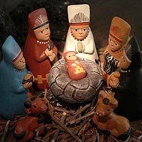 Ceramic nativity scene - Born to Lambayeque - NOVICA