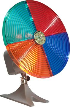 Remember back in the 1950s and '60s when these color wheels bounced a spectrum of lights off the family's aluminum tree?